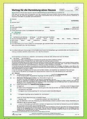 Mietvertrag Haus Rnk 545 A4