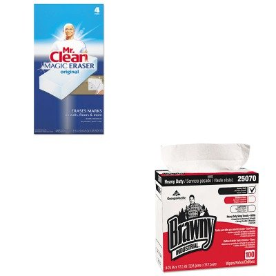 KITGEP25070CTPAG82027 - Value Kit - Georgia Pacific Brawny Industrial Heavy Duty Shop Towels (GEP25070CT) and Mr. Clean Magic Eraser Foam Pad (PAG82027) by Georgia-Pacific