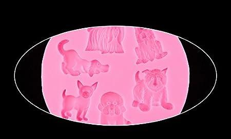 Molde de silicona con forma de huella de gato para fondant, moldes de silicona, molde de perro de silicona, para decoración de pasteles, fondant, ...