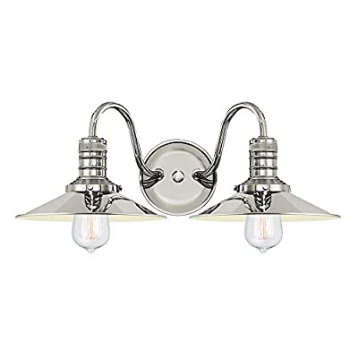 Langdon Mills Putnam Industrial Bathroom Vanity Light Fixture Edison Bulbs