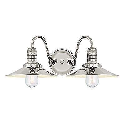 Langdon Mills Putnam Industrial Bathroom Vanity Light Fixture Edison Bulbs