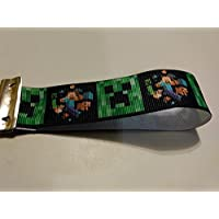 Minecraft steve & Creeper key chain/fob