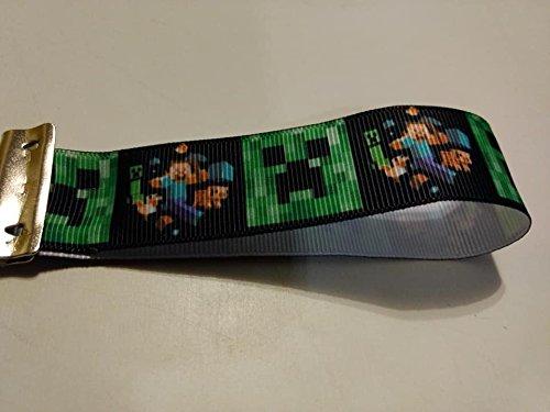 Minecraft steve & Creeper key chain/fob