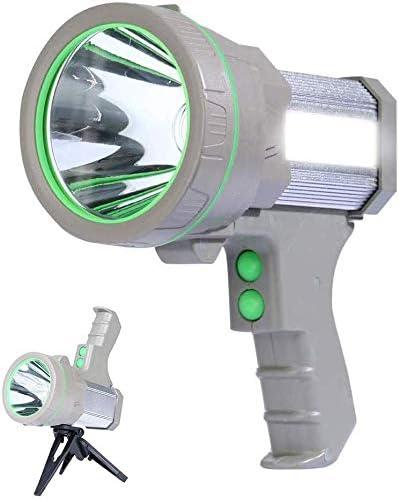 AF-WAN Projecteur de Chantier Rechargeable 100W LED Lampe de Chantier 7000 Lumens Lamp LED Rechargeable Puissante Portable Spot pour IP65 /Étanche Camping Voyage P/êche Noir