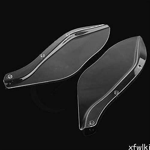 JeanPolly Motorrad-Flügel Windschutzscheibe Luftleitblech FLHR FLHT FLHX 1996-2013 Schwarz/Transparent Durable Motorrad Windschutzscheibe (Farbe : Clear)