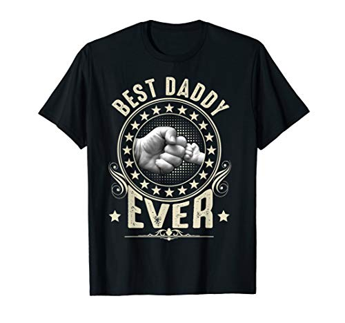 Vintage Best Daddy Ever Fist Bump T-Shirt Gift Fathers day