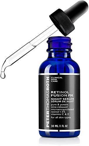 Peter Thomas Roth Retinol Fusion PM Night Serum, Hydrating Retinol Facial Serum, 1.5% Microencapsulated Retinol for Fine Lines, Wrinkles, Uneven Skin Tone, Texture and Radiance