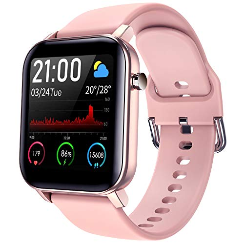 COULAX Smart Watch, Fitness Tracker with 1.4″ Touch Screen, Activity Tracker with Blood Oxygen Monitor, Step Counter with Locus Tracking Map, Sport Watch with Heart Rate Monitor for Women
