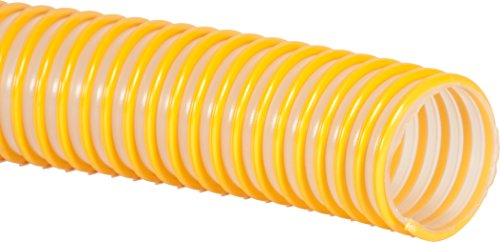 Pacific Echo W187-2.5x100 Polyurethane Spiralite W187 Corrugated Vapor Recovery Hose with Static Wire, 100' Length, 2.96