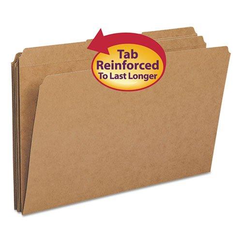 Folder, 11 Point, 2-Ply, 1/3 Ast Tab Cut, Legal, Kraft ()
