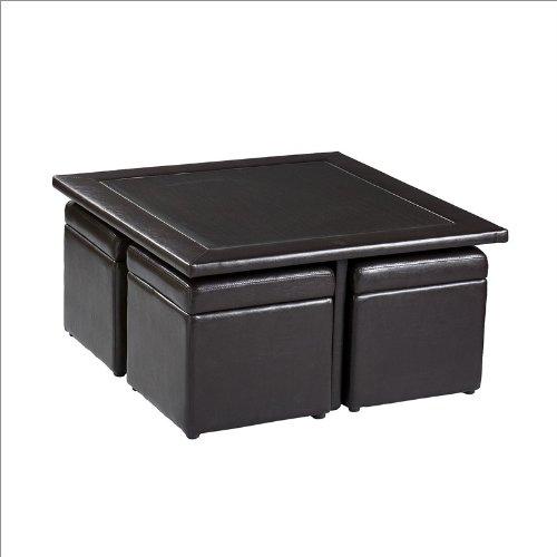 Southern Enterprises Callie Storage Cube Table Set in Dark Chocolate