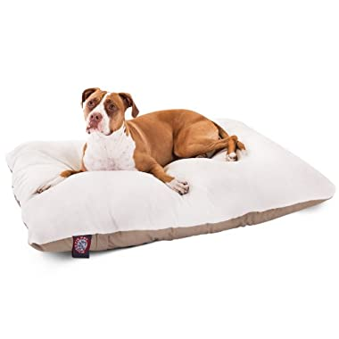 36x48  Khaki Rectangle Pet Dog Bed By Majestic Pet Products  Large