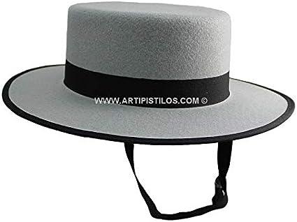 Artipistilos® Sombrero Cordobés Talla 56 - Talla 56, Negro ...