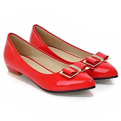 Heel Comfort Women Low AicciAizzi Pumps Red qgtwAA