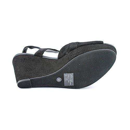 Alfani Womens PINAE Leather Open Toe Casual Slingback Sandals Black lPqfnf
