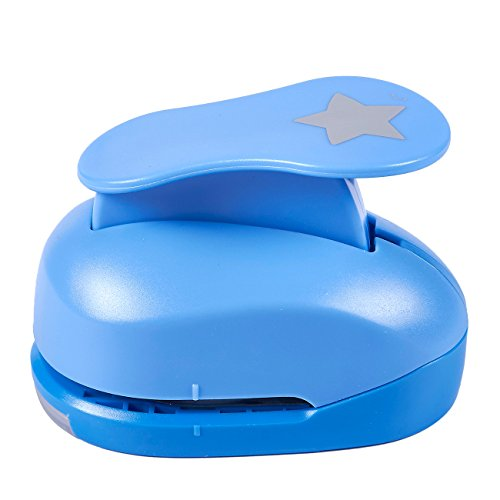 Paper Punch Shapes - Star-Shaped Hole Puncher for Scrapbook, DIY Craft Project, Kids Artwork, Blue, 4.25 x 3.1 x 2.75 Inches ()