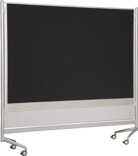 (Best-Rite DOC Mobile Whitebooard Room Partition and Display Panel, Dura-Rite Markerboard & Hook and Loop Fabric, 6 x 8 Feet (661AH-HN))
