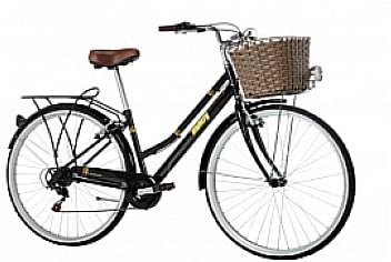 Monty City Vintage - Bicicleta Urbana, Color Negro, 16