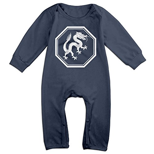 PAGE2 Chinese Zodiac Dragon Newborn Babys Long Sleeve Jumpsuit Outfits Navy Size 24 Months