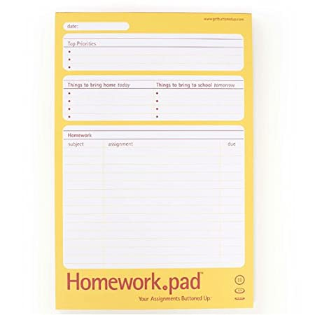 Amazon.com : Homework.pad by Buttoned Up : Paper Data Cards ...
