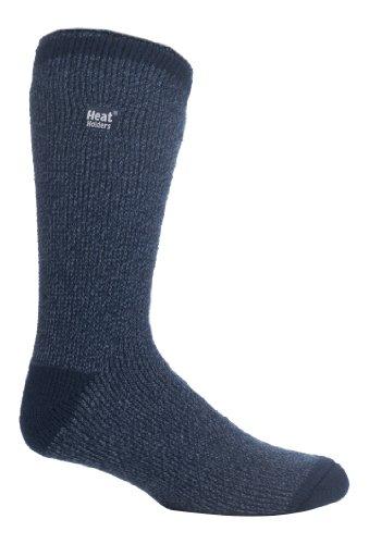 Heat Holders - Mens Patterned Twist Thermal Socks in 35 Colours, Size, 7-12 Us (Blue Twst)