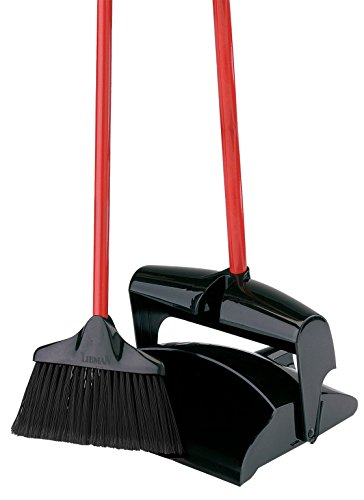 Libman Lobby Broom & Dust Pan (Closed Lid) (Lobby Dustpan And Broom Set)