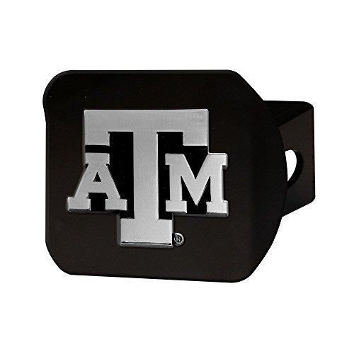 Texas A&M Aggies Heavy Duty Black Chrome Metal Hitch Cover -