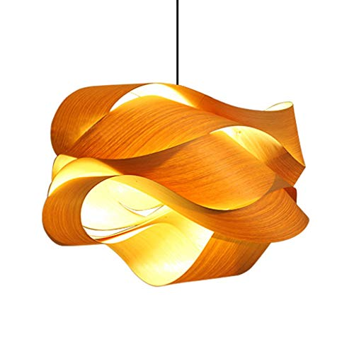 Pendant lights Wooden Chandelier, Bedroom Study Veneer Chandelier, Creative Wood Chandelier (Wooden Veneer)