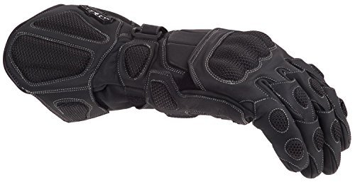 Cortech Scarab Winter Men's Leather Sports Bike Racing Motorcycle Gloves - Black/X-Small ()
