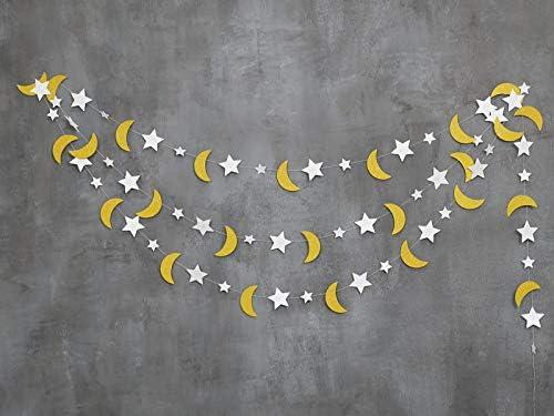 Moon and Stars Garland Star and Moon Decorations  Moon and Star  Decoration Moon Home décorStars and Moon DecorationsStar Moon  DecorationsHome