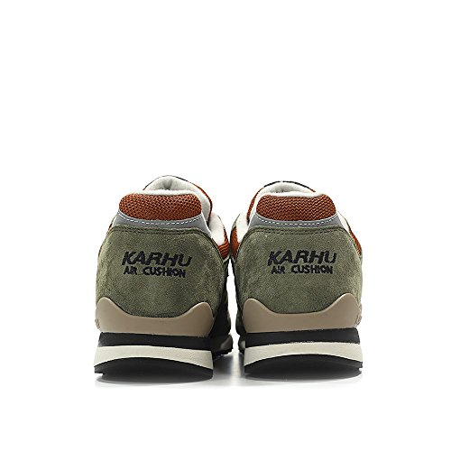 Karhu Mens Synchron Classic Green Suede and Orange Mesh Sneakers Olive / Olive Night / Maison Apw2d