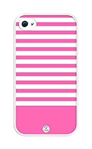 iZERCASE Deep pink stripes rubber iphone 4 case - Fits iphone 4 & iphone 4s by icecream design