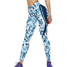 Londony❤ღ♕ Athletic Pants 3D Polygons Print Pants,Londony Women's Yoga Pants Tummy Control Workout Capris Leggings
