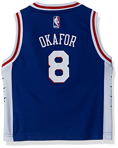 (Outerstuff NBA Philadelphia 76Ers Children Boys Replica Road Player Jersey, 4T, Blue)