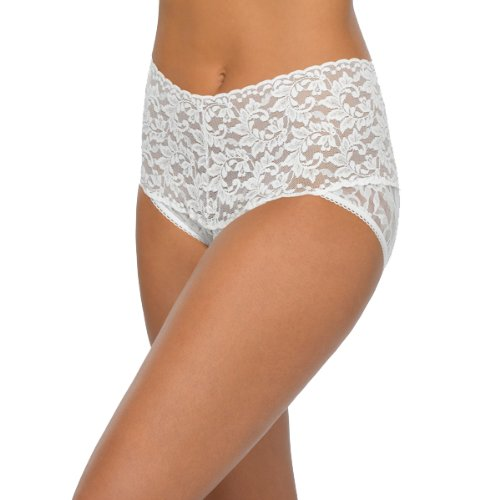 - Hanky Panky Women's Signature Lace Retro V-Kini Marshmallow X-Large