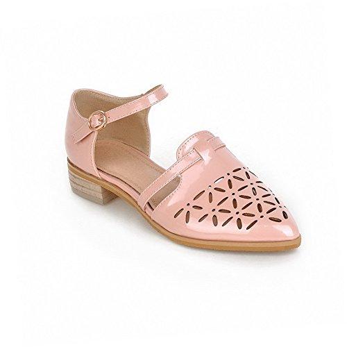 Sandalo chiuso con tinta pelle in tacco mini unita agoolar fibbia con rosa UqrUF6Cw