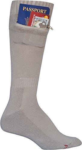 Pocket Socks - Passport Security Travel Socks, Men's, Beige
