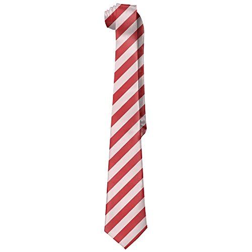 Duchamp Ties - HenSLK Red Stripes Background Men's Fashion Polyester Solid Silk Tie Necktie