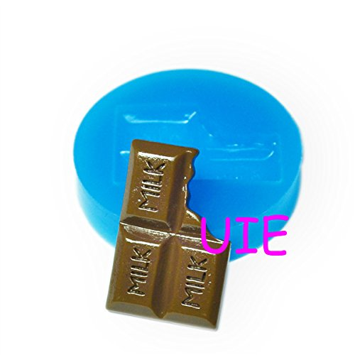 066LBK Big Bitten Chocolate Mold Flexible Silicone Mold - Cake Decoration Bakeware Polymer Clay Molds, Fimo Mould Food Safe (Food Safe Clay Molds)