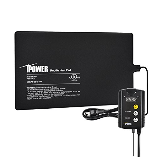 iPower 8'x12' Under Tank Heat pad and Digital Thermostat Combo Set for Reptiles
