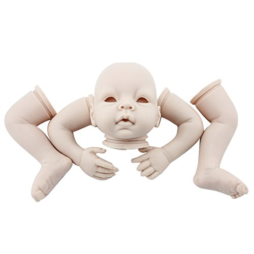 Vinyl Reborn Kit - Minidiva Unpainted Reborn Baby Doll, 100% Handmade Soft Silicone 22
