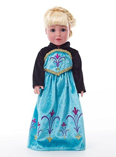 Aurora Coronation Girls Princess Costumes (Little Adventures Ice Princess Coronation Matching Doll Dress)