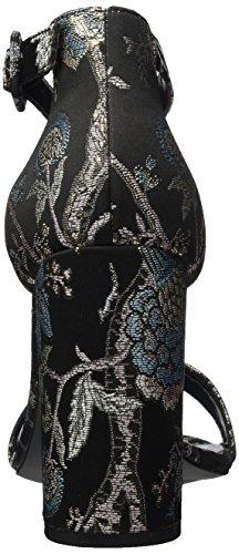 New Riches Plateau Brokade black Grigio Sandali Con Donna Look Pattern 9 r5qa4r