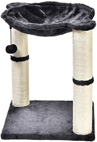 Torre en forma de árbol para gatos con cama tipo hamaca y poste rascador 3