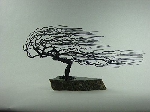 Windswept Wire Bonsai Tree Sculpture-Medium size