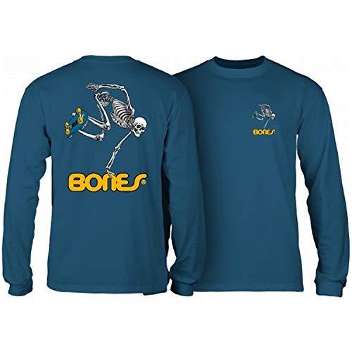 Powell-Peralta Skateboard Long Sleeve Shirt Skateboard Skeleton Slate Blue Size XL -  CTLPPSBSSB