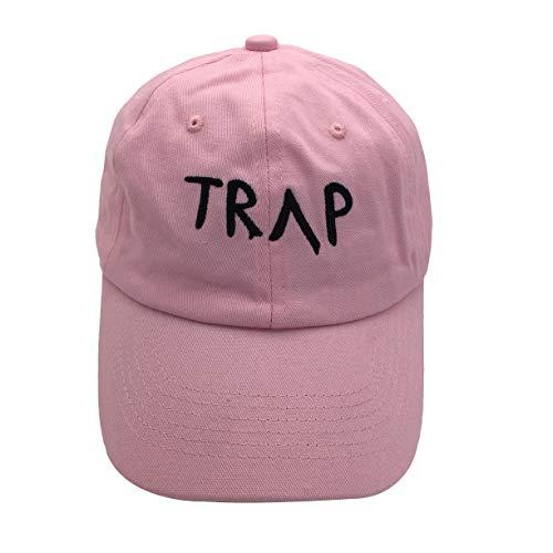 7d0697c0 Guangping Liu Trap Dad Hat Baseball Cap Cotton Hat Embroidered Cap Plain Cap  with Adjustable Pink