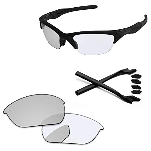 PapaViva Lenses Replacement & Rubber Kits for Oakley Half Jacket 2.0 Pro+ Eclipse Photochromic