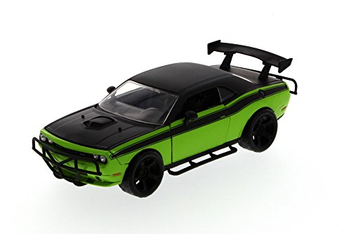 Jada Fast & Furious Letty's 2011 Dodge Challenger SRT8 hard Top, Green with Black 97232 - 1/24 Scale Diecast Model Toy Car, but NO BOX