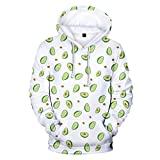Unisex Print Hooded Top | Men Women Casual Regular Fit Pullover Sweatshirt with Front Pocket | Autumn Long Sleeve T Shirts